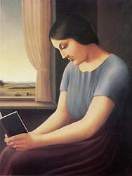 Woman Reading at the Window 1a